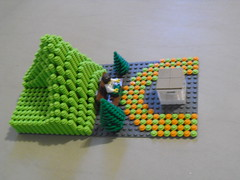 Birds eye view (ƧɧДρεϚ ΏЃ נӟסو) Tags: green garden circle hoodie lego minifig peices membrane moc matlab enginering