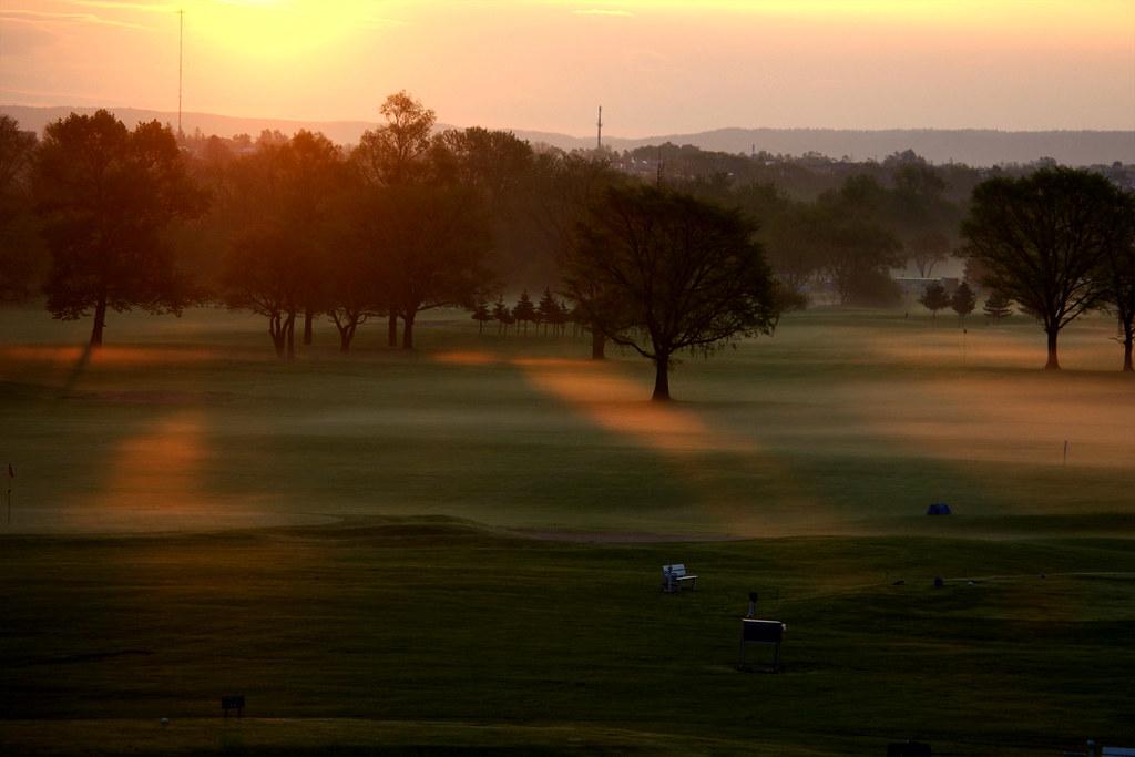 早朝のパークゴルフ場