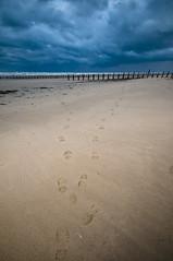 Foot prints (Stuart Hines) Tags: sea sky cloud seascape beach landscape sand waves footprints sigma stuart cumbria 1020 barrow grads hines d300 furness islans walney dramiatic