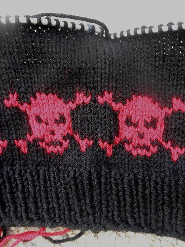 skulls on needles
