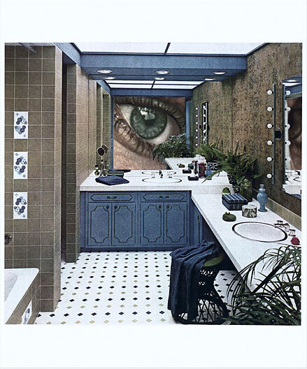 Martha Rosler, Bathroom Surveillance or Vanity Eye, 1966-72, Photomontage