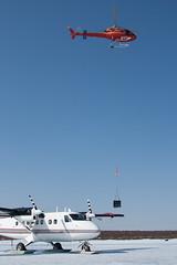 On Skis! In June! (Jason Pineau) Tags: aircraft nwt helicopter ren northwestterritories skiplane dehavilland twinotter airtindi dhc6 greatslave pointlake cgmas cgngk
