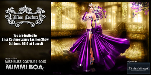 Bliss Couture Luxury Fashion Show Ad
