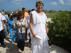 Verena Gerber and the Yucatan Governor, Ivonne Ortega Pacheco