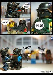 Bank Assault 3 (Shobrick) Tags: book comic lego custom armory amzing gign brickarms brickforge