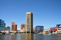 Baltimore Inner Harbor skyline (mbell1975) Tags: world usa tower skyline harbor us md day maryland center baltimore inner clear trade skyscrapper