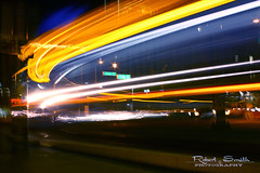 Light-tRail (rslhc) Tags: longexposure urban abstract blur station night train canon subway lights colorful downtown publictransportation tracks nighttime motionblur masstransit lightrail xsi lighttrail colorsofthenight