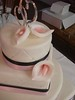 4 Tier Wedding Cake with Pink Calla Lillies