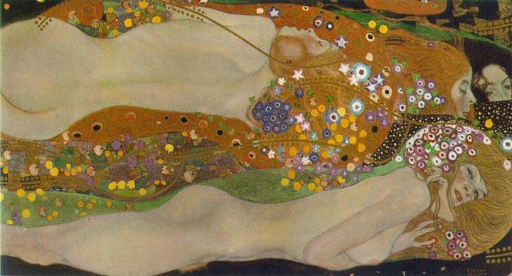 Gustav Klimt Water Serpents II