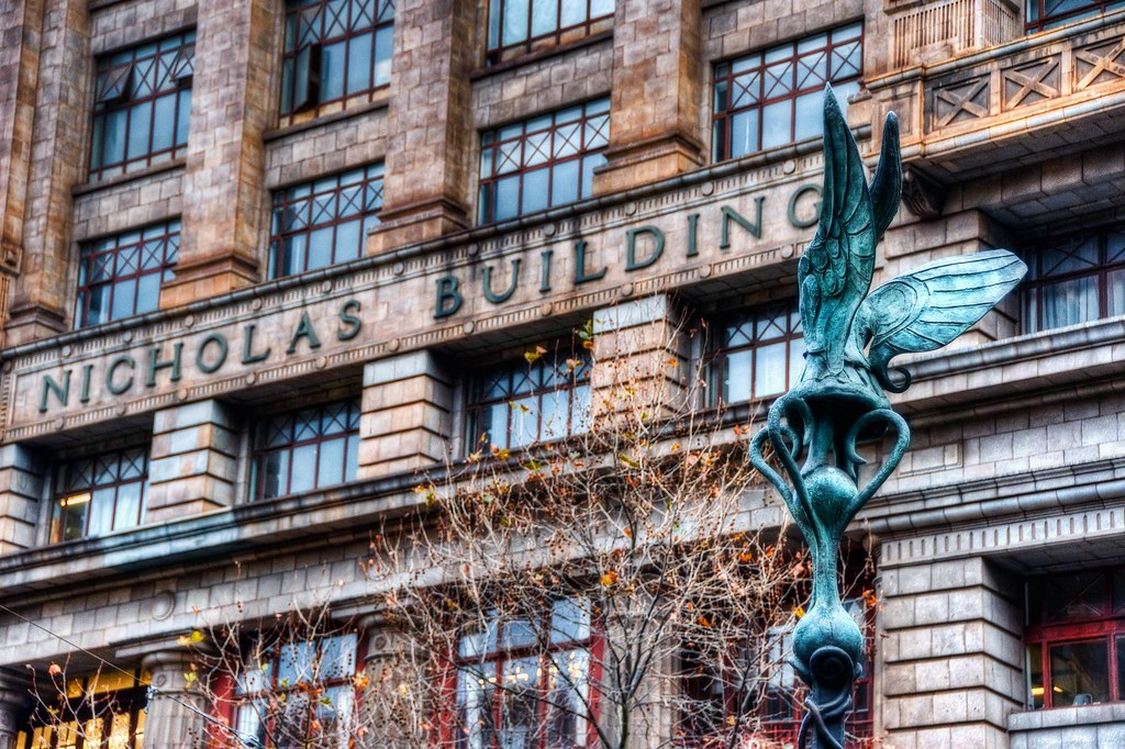 Nicholas Building & The Winged Statue