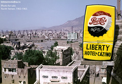 Yemen country, 1960th. Unique old colour photos for sale. (Yemen-old-fotos) Tags: street old mountain colour film 35mm liberty hotel photo ancient cola sale antique unique north casino arabic arab historical yemen pepsi positive sanaa sell 35 sana chronicle 1965 1963   distribute  cazino  1960th