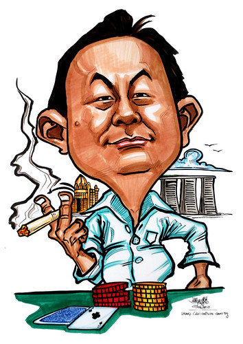 Caricatures for NUS -gambler-smoker