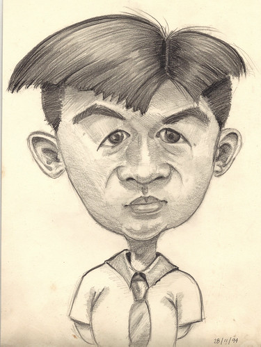 My caricature by my wife in 1994