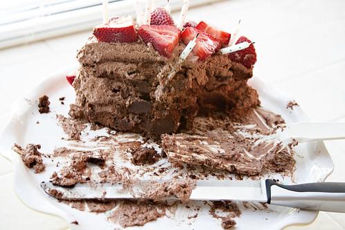 devoured cake