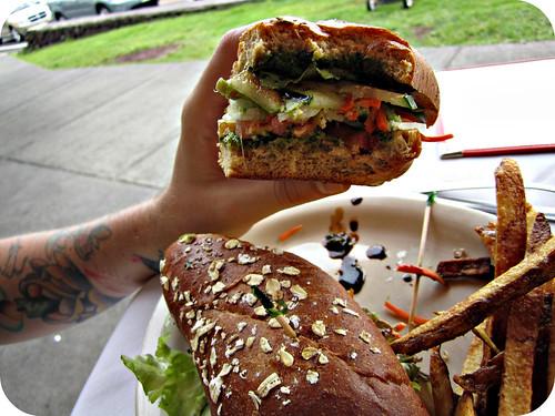 veggie sandwich...mmm