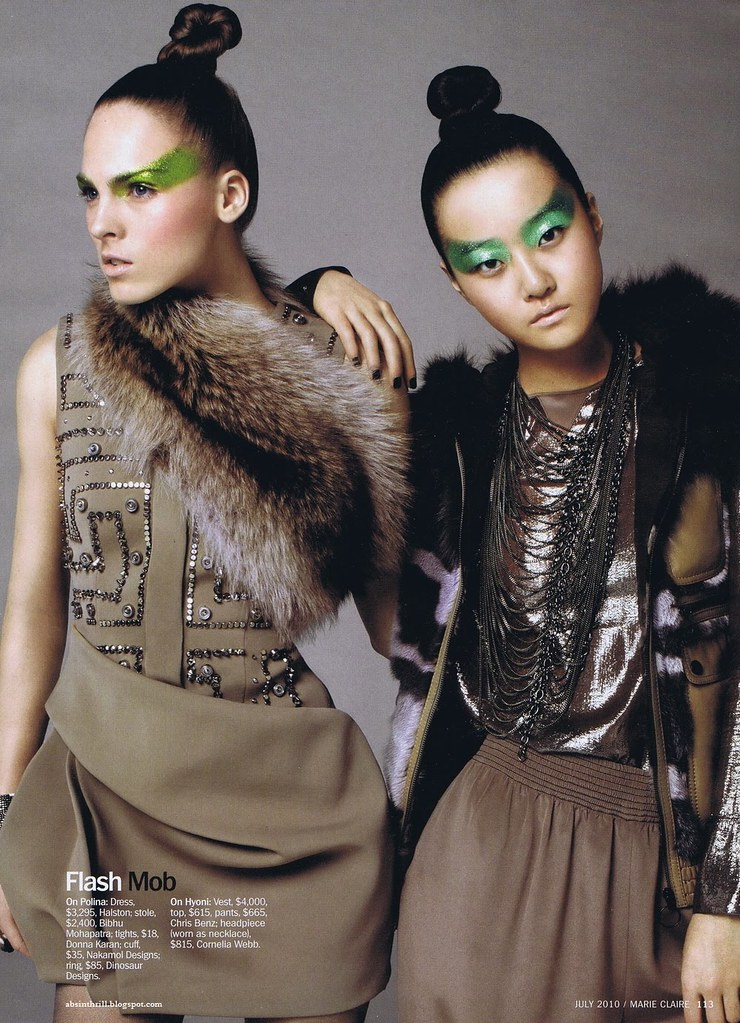 Hyoni Kang & Polina Sova - US Marie Claire July 2010 - 6