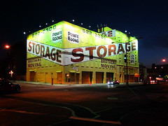 Brothers Moving & Storage (k.james) Tags: sign yellow brooklyn advertising storage lettering signpainting brothersmoving