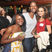 Tammy Mutasa, NY1; Ashley Harris, and Sara Hamdan