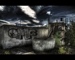 Urban tag OMG (Tim.D Photography) Tags: street people bw white black colour art rain umbrella flickr noir tour graphic noiretblanc walk tag explorer pluie best bleu explore raining blanc hdr couleur immeuble parapluie pavs postprocessing hdrenfrancais