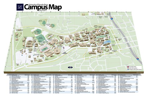 UNR Campus Map 201011 a photo on Flickriver