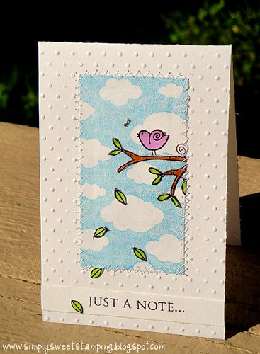 Just a note Birdie Card