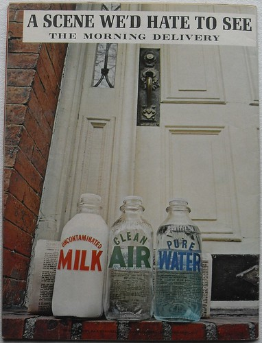 1971 MAD MAGAZINE Spoof Advertisement Back Page Clean Air Water Milk