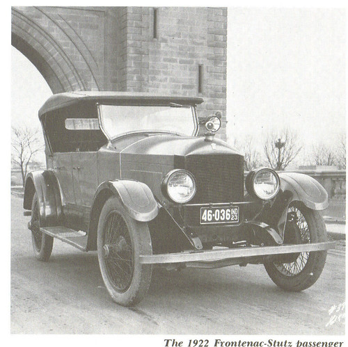 ONE OF FOUR COMPANIES THAT BUILT AUTOMOBILES CALLED  FRONTENAC.