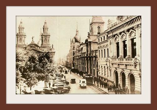 La plaza de Armas y la calle catedral