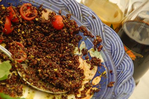 riso venere con pesto di pistacchi (ste)