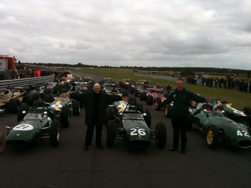 Check out this pic with Hazel and Clive Chapman in front of Lotus Classic F1 Cars! #fb