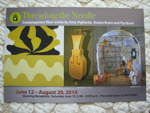 Threading the Needle show at Fl Craftsmen Gallery St Pete