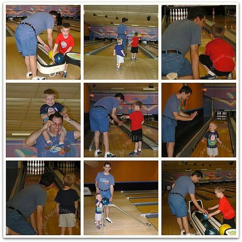 My boys bowling