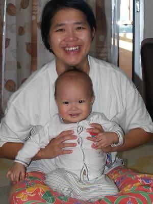Justin and Mummy