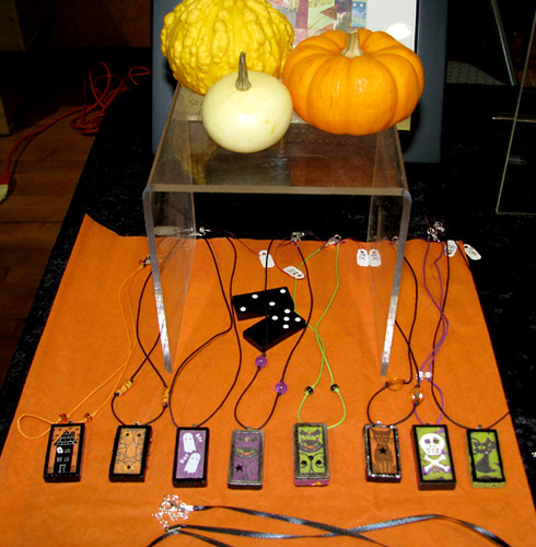 Halloween Domino Pendant Display