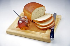 Homemade White Bread with Honey
