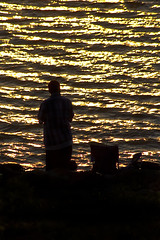 Fishing (David.Keith) Tags: silhouette photoshop river mississippi fishing adjust cs4