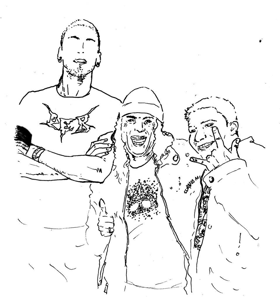 Da direita para esquerda: Urubu-Rei, Wlad, Marambaya...
