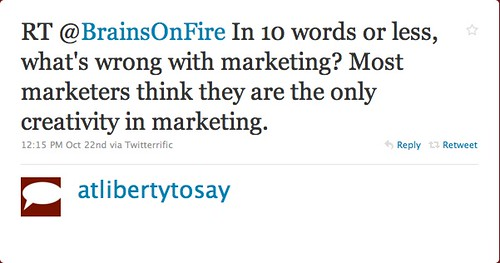 atlibertytosay: What's Wrong With Marketing?