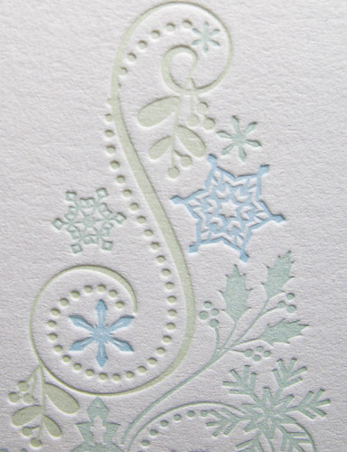 Apple Letterpress Tree Card