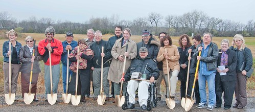 Groundbreaking:  From left to right:  Rural Development Manager Janell Telin, Norman Perko – Council Member, Michael McCafferty – Dakota Nation Housing Development Authority, Winfred Rondell – Council Member, Joyce Country – Council Member, Rural Development Area Director Bruce Jones, Dale Bouer – Architect, Dave Red Thunder – Council Member, Steve Laughlin – primary designer on this project,  Ed Red Owl – Chairman's Attendant, Michael Selvage – Tribal Chairman for the Sisseton Whapeton Oyate, Jesse Larsen – Tribal Facility Manager, Rural Development State Director Elsie M. Meeks, Tonya Peterson – Senator Johnson's Staff, Terri Larsen – Council Member, Garryl Rousseau – Vice Chairman for the Sisseton Whapeton Oyate, Connie Williams – Congresswoman Stephanie Herseth Sandlin's Staff, and  Judy Vrchota – Senator John Thune's Staff.