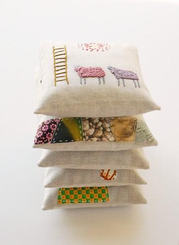 levandų pagalvėlės/ lavender sachets