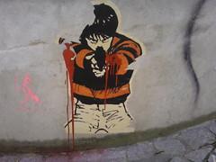Madrid 2008 (5) (liborius) Tags: madrid street city urban streetart art sign underground graffiti design calle spain stencil arte graphic decay tag icon can spray espana vandalism urbanism spanien calls 2010 pochoir schablone