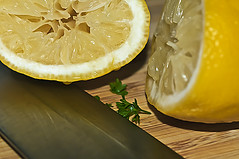 Squeezed Lemon (Julie Frances Photography) Tags: food cooking yellow lemon nikon knife cutting nikond300