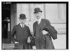 Geo. Wickersham  [and] W.F. Sheehan  (LOC) (The Library of Congress) Tags: newyorkcity two men standing outdoors moustache libraryofcongress lawyers mustache raincoats bowlers attorneys barassociation derbyhats xmlns:dc=httppurlorgdcelements11 greatmustachesoftheloc dc:identifier=httphdllocgovlocpnpggbain15741 carryingtopcoats