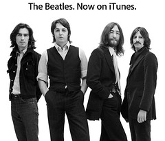 The Beatles on iTunes promo poster!! (beastandbean) Tags: music john paul george mac itunes ringo thebeatles digitalmusic coolmusic promotionalcampaigns appleartwork coolmacart thebeatlesonitunes
