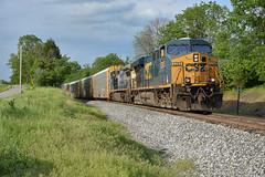 Up the hill at Sulphur Ky. (Machme92) Tags: clouds csx csxt railroad railfanning railroads railfans rails rail row railroading railfan trains tracks sky summer nikon
