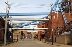 8th & Jackson, Dubuque Iowa (Cragin Spring) Tags: iowa ia midwest unitedstates usa unitedstatesofamerica factory industry pipes street industrial dubuque dubuqueia dubuqueiowa downtown