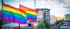 2017.07.02 Rainbow and US Flags Flying Washington, DC USA 6852