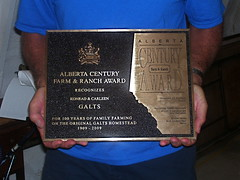 Galts Family Alberta Century Farm & Ranch Award