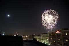 rooftop. (northshoreleo) Tags: nebraska fireworks newyear omaha freehand holidaylights 2010 nsl rooftoop sooc northshoreleo